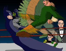 Batman vs. Lee by Afalstein