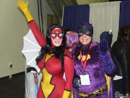 Spider-Woman and Batgirl by pikaman206