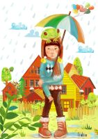 rainfrogs keep falling by monyetbuluk