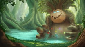 Magical Forest Concepts - The Pool of Growth by MartinKlekner