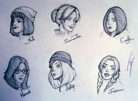 Until Dawn female characters by NienorGreenfield