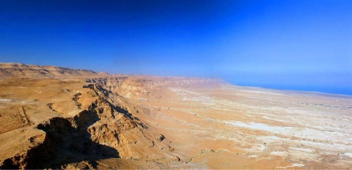 Masada - North View - Israel by Delusionist