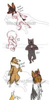 Weredog Doodles from October by nekonotaishou