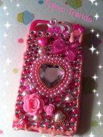 Hime Hot Pink Power iphone case2 by Tokyo-Trends