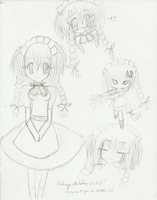 Sakuya SKETCHES OF MURO by choxie-chan