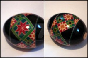 Quilt Block Pysanky Egg by cybermathwitch-klm