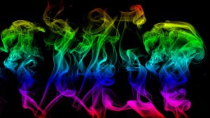 rainbow smoke wallpaper by camymac