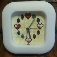 Zelda Heart and Rupee alarm clock by Sew-Madd