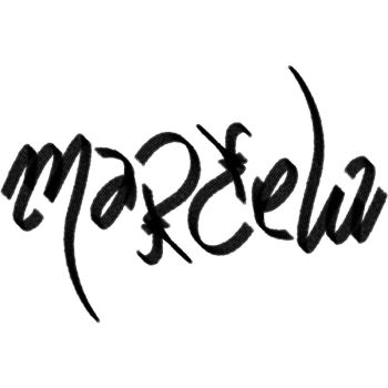 Marcela ambigram by sixt0p