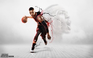 Damian Lillard | Splattered | Wallpaper by ClydeGraffix