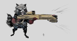 rocket raccoon 001 color LR by BChing