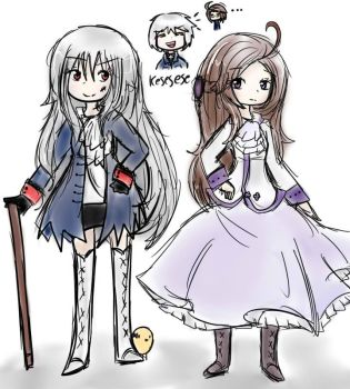 Nyo! Prussia and Austria by Pirysan6