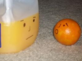 orange meets orange juice by carlos1219