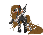 MLP POINT AUCTION ADOPT: Corrupted Pony Adopt- War by InvaderIka