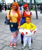 Misty, Mario and Togepi by ZeroKing2015