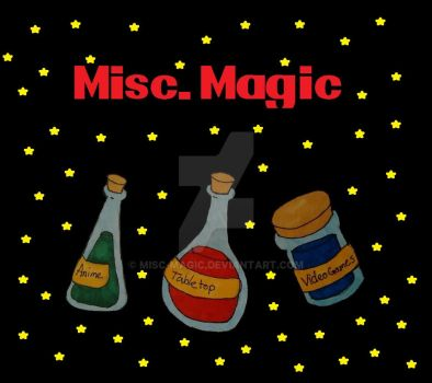Misc. Magic Logo Attempt 1 (with stars) by Misc-Magic