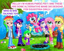 My humanized mane six ( and Spike). by seriousdog