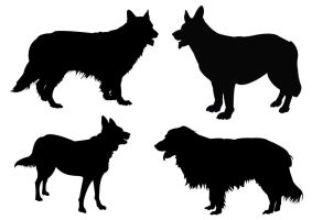 Dog Silhouettes by PaulineMoss