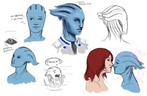 Liara everywhere by Ma-rin