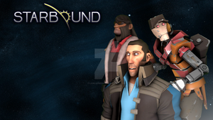 Starbound - SFM poster by Lawlsomedude