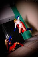 Super and Power girl by Mikycosplay
