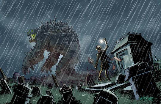 THE WALKING GRAVEYARD by RM73