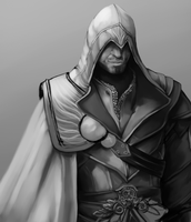 Ezio Auditore , WIP Day 2 by Misskrieg