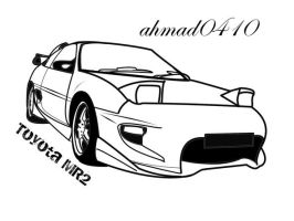MR2 Line Art by ahmad0410