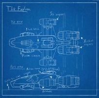 Spaceship blueprint: The Faolan by HarveyGall