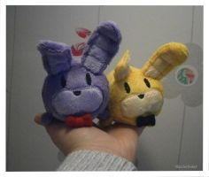 Handmade Bonnie and Springtrap Tsum Tsum Plushies by HipsterOwlet