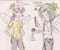 Merry Christmas: Cosmo and Wanda by EgyptianDream