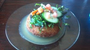 Chicken Pot Pie Croquette with Apple Gastrique by FutureChefHaku