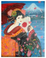 The vision of Fuji by EleSorriso