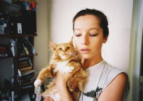 me and my cat Ohman by stefa-zozokovich