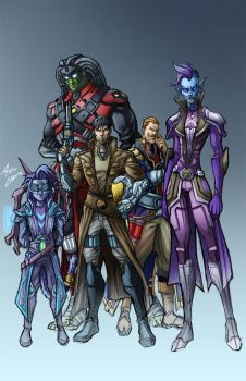 Wildstar Group commission by phil-cho