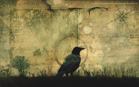 Crow Wallpaper by Tiger-tyger