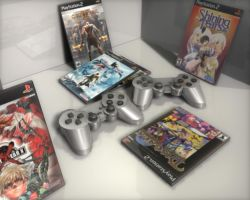 PS2 controller still life by MARKCW
