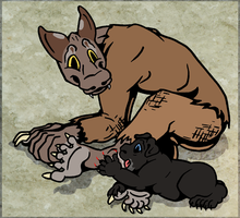 The baby is teething by Leonca