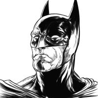 Batman test ink drawing by ElvinHernandez