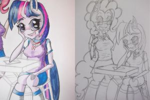 Black and white to color by livintdark