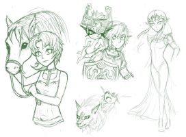 some zelda wips by firehorse6
