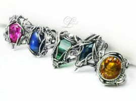 collection of rings Lunarieen UK by LUNARIEEN