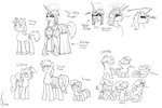 Character practice:  Filly Twilight and co. by Dreatos
