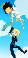 Zack and Cloud by s-n-o-m-i-s