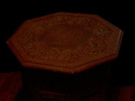 Carved wooden table 01 by barefootliam-stock