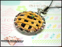 Blackberry Pie Mobile Strap by GrandmaThunderpants