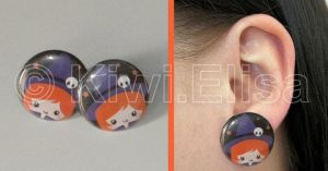 Witch halloween earring by Elichan83