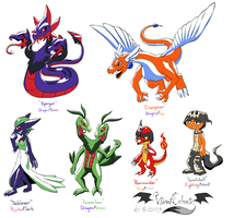 Pokemon Fusions by VibrantEchoes