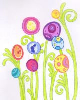 easter egg flowers by funkypam