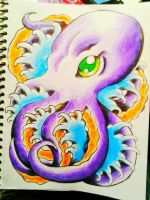 Octopus tattoo design by jessicore666